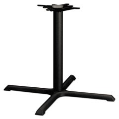 Single Column Cast Iron Base, 36w x 36d x 27-7/8h, Black