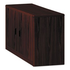10700 Series Locking Storage Cabinet, 36w x 20d x 29 1/2h, Mahogany