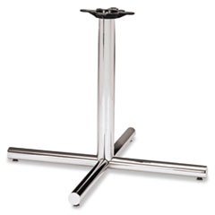 Single Column Steel Base, 36w x 36d x 27-7/8h, Chrome