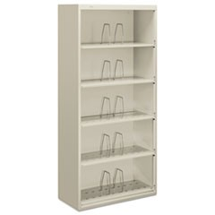 600 Series Jumbo Steel Open File, Five-Shelf, 36w x 16-3/4d x 75-7/8h, Gray