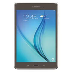 "Galaxy Tab A 8.0"" Tablet, 16 GB, Wi-Fi, Smoky Titanium"