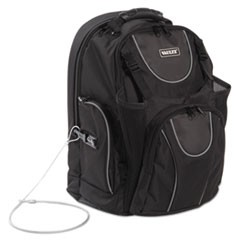 "Locking Backpack, 16"", 15 x 7 x 19, Black"
