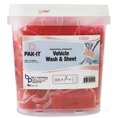Vehicle Wash & Sheet, Pink, 50 PAK-ITs/Tub