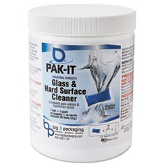 Glass & Hard-Surface Cleaner, Pleasant Scent, 20 PAK-ITs /Jar