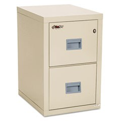 Turtle Two-Drawer File, 17.75w x 22.13d x 27.75h, UL Listed 350� for Fire, Parchment