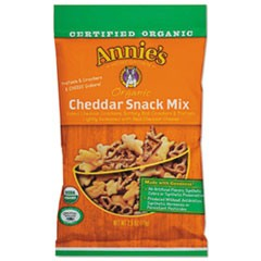 Annie'S Homegrownorganic Cheddar Snack Mix, 2.5 Oz Bag, 12/Carton
