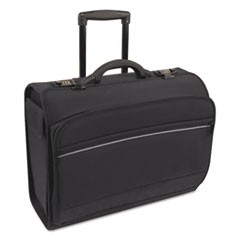 Rolling Catalog/Computer Case, Nylon, 19 1/4 x 8 1/2 x 15, Black