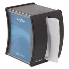 EasyNap Tabletop Napkin Dispenser, M-Window, 5 3/4w x 4 3/4d x 7 7/10h, Black