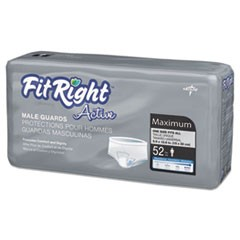 "FitRight Active Male Guards, 6"" x 11"", White, 52/Pack"