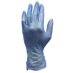ProWorks Industrial Grade Disposable Vinyl Gloves, Small, Blue, 1000/Carton