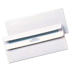 Redi-Seal Envelope, Security, #10, Contemporary, White, 500/Box