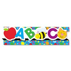 "Pop-It Border, ABCs/123s, 3"" x 24', 8 Strips/Pack"