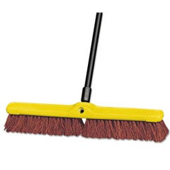 "Heavy Duty Floor Sweep, 24"" x 3"", Brown, Polypropylene"