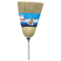 "Deluxe Corn Broom, 17"" Bristles, 55"", Wood Handle, White"