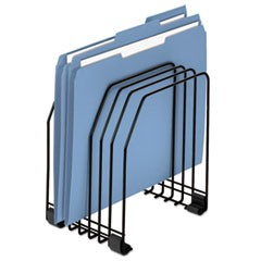 Wire File Organizer, 7 Comp, Steel, 7 3/8 x 5 7/8 x 8 1/4, Black