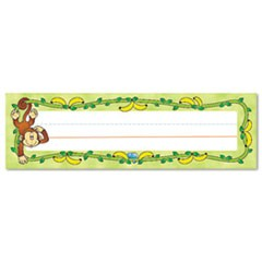 "Desk Nameplates, Monkeys, 9 1/2"" x 3"", 36/Set"
