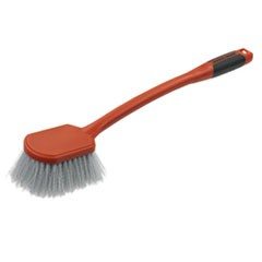 "Long Utility Brush, 5"" Brush, 13"" Handle, 2"" Bristles,Orange/Gray, 3/Box"