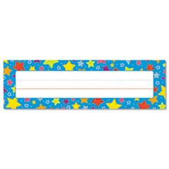 "Desk Nameplates, Stars, 9 1/2"" x 3"", 36/Set"