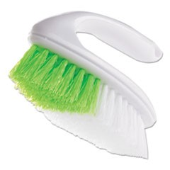 "Iron Handle Brush, 5 3/4"" Brush, 1 1/4"" Bristles, White/Green, 4/Box"