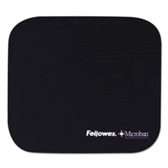 Mouse Pad w/Microban, Nonskid Base, 9 x 8, Navy
