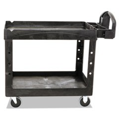 Heavy-Duty Utility Cart, Two-Shelf, 25 9/10w x 45 1/5d x 32 1/5h, Black