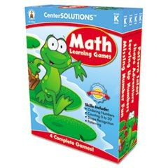 Math Learning Games, Four Game Boards, 2-4 Players, Grade K