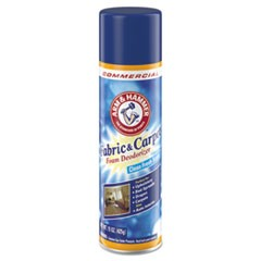 Fabric and Carpet Foam Deodorizer, Fresh Scent, 15 oz Aerosol, 8/Carton
