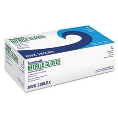 Disposable General-Purpose Nitrile Gloves, Large, Blue, 100/Box