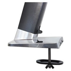 Grommet Mount for WorkFit-A Workstation, 10w x 14d x 1h, Steel, Silver
