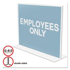 Classic Image Double-Sided Sign Holder, 11 x 8 1/2 Insert, Clear