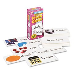 Flash Cards, Everyday Words in Spanish: Photographic, 3w x 6h, 104/Pack