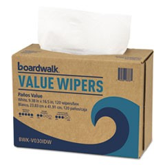 DRC Wipers, White, 9 1/3 x 16 1/2, 9 Dispensers of 100, 900/Carton