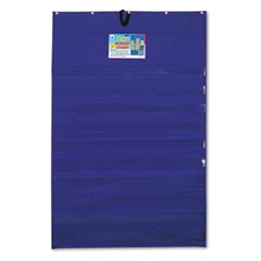 Original Plus 10-Pocket Chart with Five Clear Sentence Strips, Blue, 34 x 52