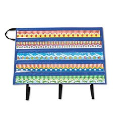 "Border Storage Pocket Chart, Blue/Clear, 41"" x 24.5"""