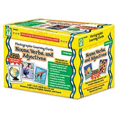 Carson-Dellosa Publishingphotographic Learning Cards Boxed Set, Nouns/Verbs/Adjectives, Grades K-12
