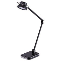"PureOptics Elate Dual-Arm LED Desk Light, 2 Prong, 21"", Black"