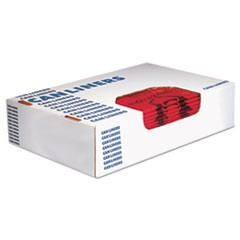 Healthcare Biohazard Printed Can Liners, 8-10 gal, 1.3mil, 24 x 23, Red,500/CT,