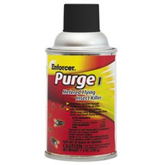 Enforcer Purge I Metered Flying Insect Killer, 7.3 Oz Aerosol, Unscented, 12/Carton