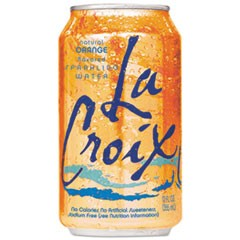 Sparkling Water, Orange Flavor, 12 oz Can, 24/Carton