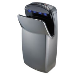 "VMax Hand Dryer, High Impact ABS, 13"" x 26 1/4"" x 9 1/4"", Silver"