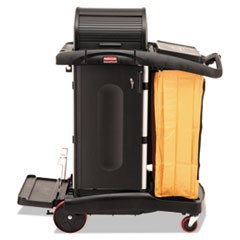 High-Security Healthcare Cleaning Cart, 22w x 48-1/4d x 53-1/2h, Black