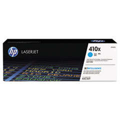 HP 410X, (CF411X) High Yield Cyan Original LaserJet Toner Cartridge