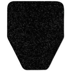 Antimicrobial Floor Mat, Urinal, 17 x 20 1/2, Black, 4/Pack, 12 Packs/Carton
