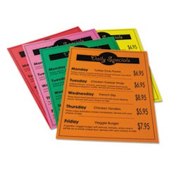 Array Card Stock, 65lb, 8.5 x 11, Assorted Bright Colors, 50/Pack