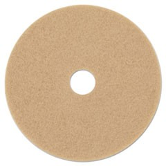 "Ultra High-Speed Floor Burnishing Pads 3400, 21"" Diameter, Tan, 5/Carton"