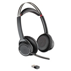 Voyager Focus UC Stereo Bluetooth Headset System with Active Noise Canceling