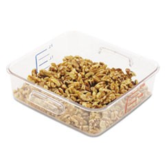 SpaceSaver Square Containers, 2qt, 8 4/5w x 8 3/4d x 2 7/10h, Clear