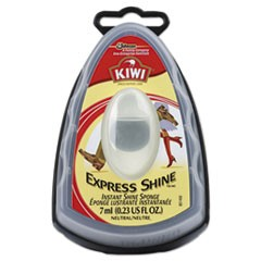 Kiwi Express Shine Sponge, Clear, 7 mL,12/Carton