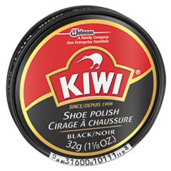 Black Shoe Polish, 32 g Tin, 144/Carton