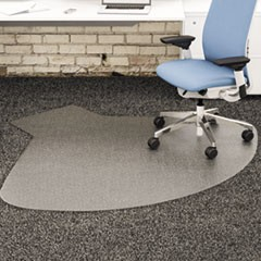 SuperMat Frequent Use Chair Mat, Medium Pile Carpet, 60 x 66, Workstation, Clear